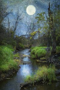 Ron Germundson: Moon Over the Creek